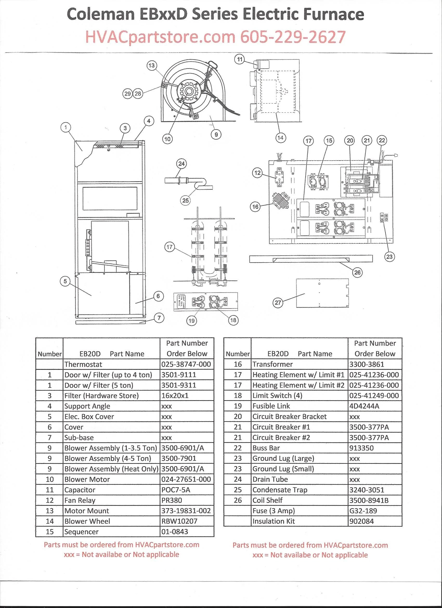 small resolution of  coleman eb20d electric furnace 19 6kw 67 000 btu click here to view wiring diagrams
