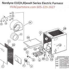 Nordyne Thermostat Wiring Diagram Barber Shave E1eh023h Electric Furnace Parts  Hvacpartstore