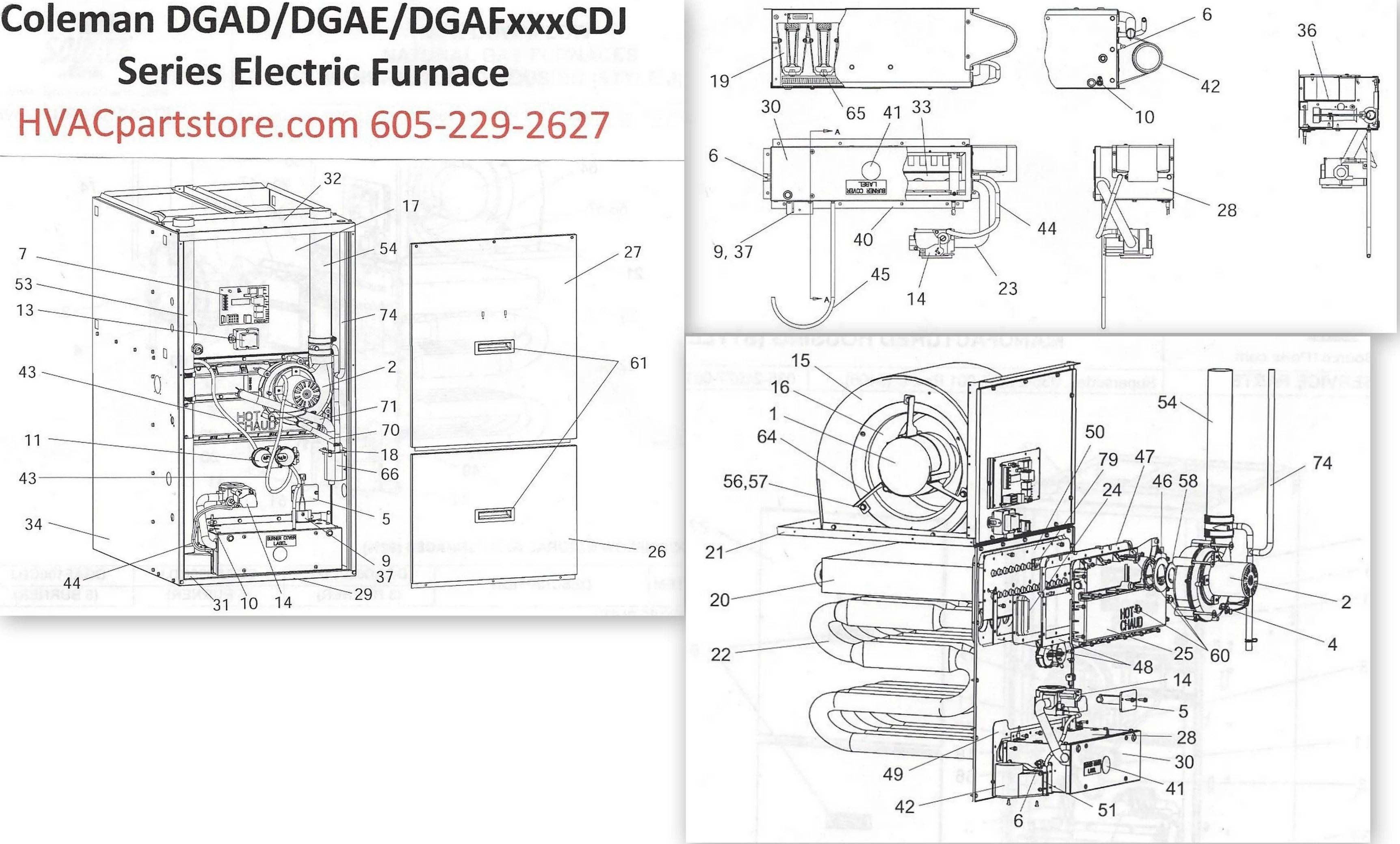 DGAE080CDJ Coleman Gas Furnace Parts – HVACpartstore