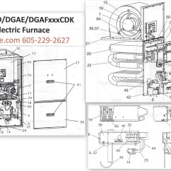 Coleman Evcon Electric Furnace Wiring Diagram 1988 Honda Accord Dgaf100cdk Gas Parts  Hvacpartstore
