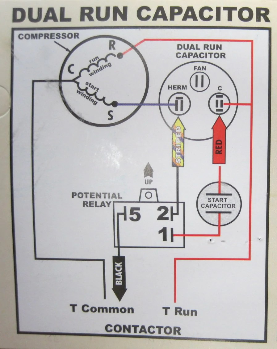 medium resolution of dual capacitor with hard start wiring schematic
