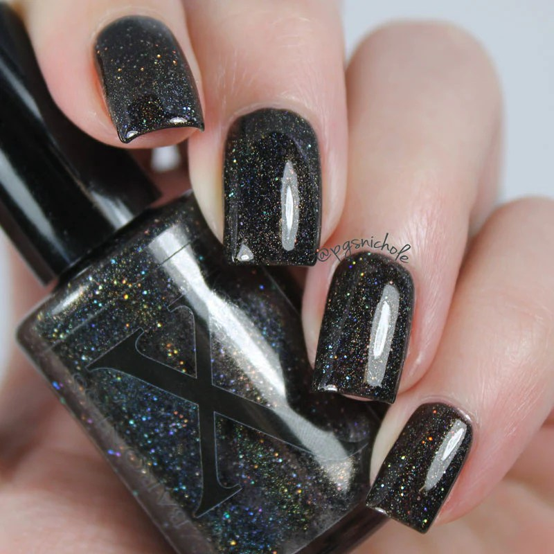 mirror - pitch black holographic