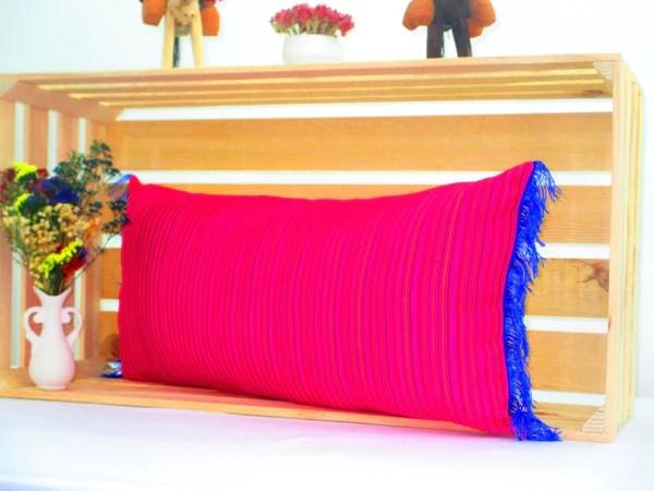 hot pink blue lumbar pillow 14x28 inches striped pillow shams sofa