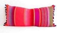red long bolster pillow cover tribal aztec mexican throw lumbar cushi