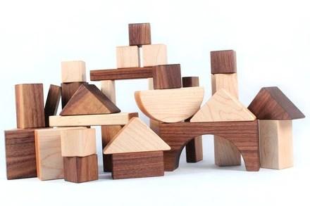 Personalised Building Blocks Baby Wooden Blocks