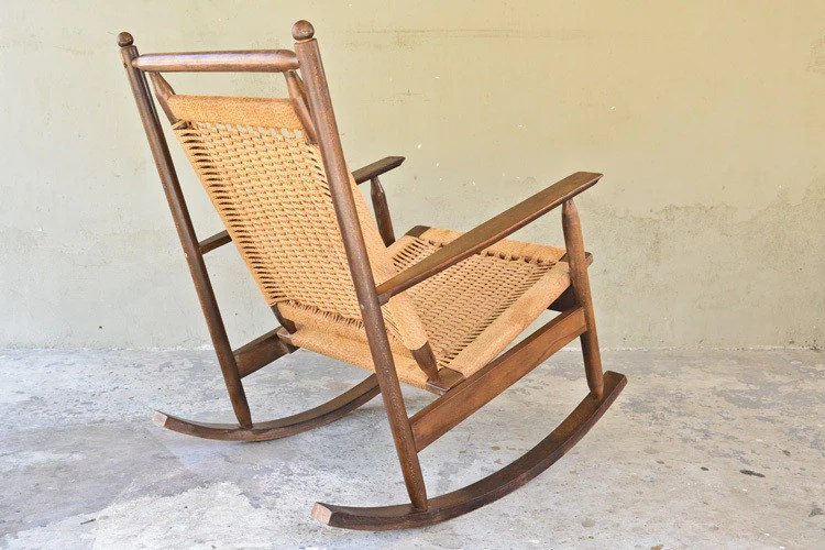 woven rocking chair single couch cover hans olsen style arroyo artifacts