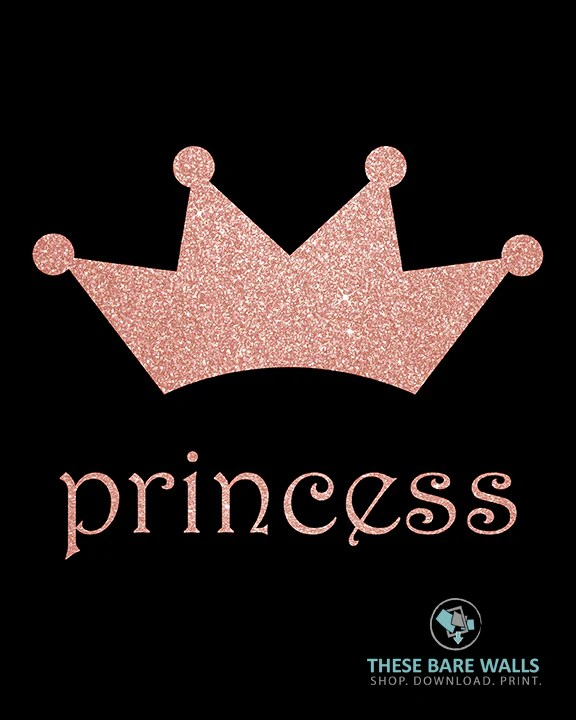 princess crown printable wall