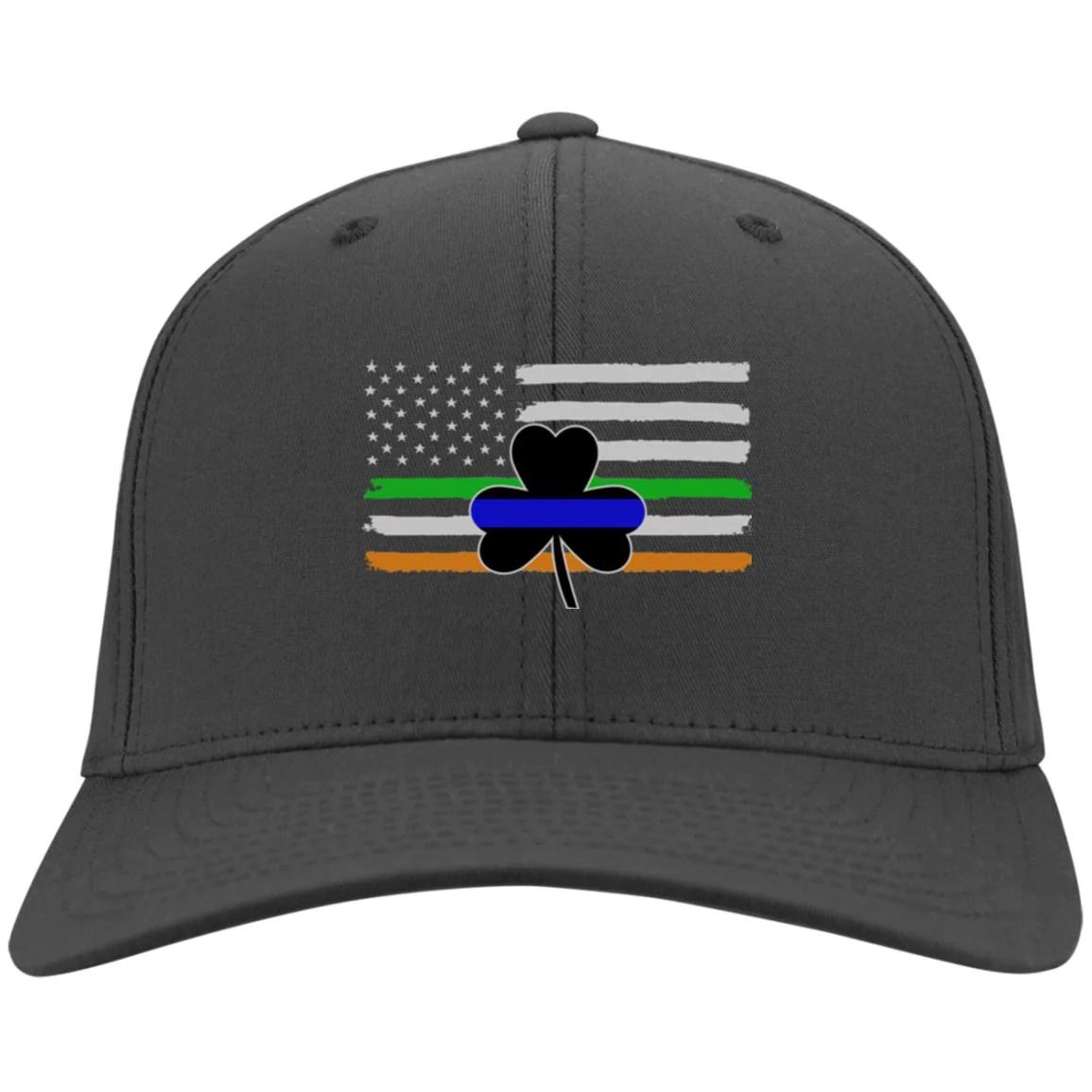 Thin Blue Line Shamrock & Irish Flag Hat