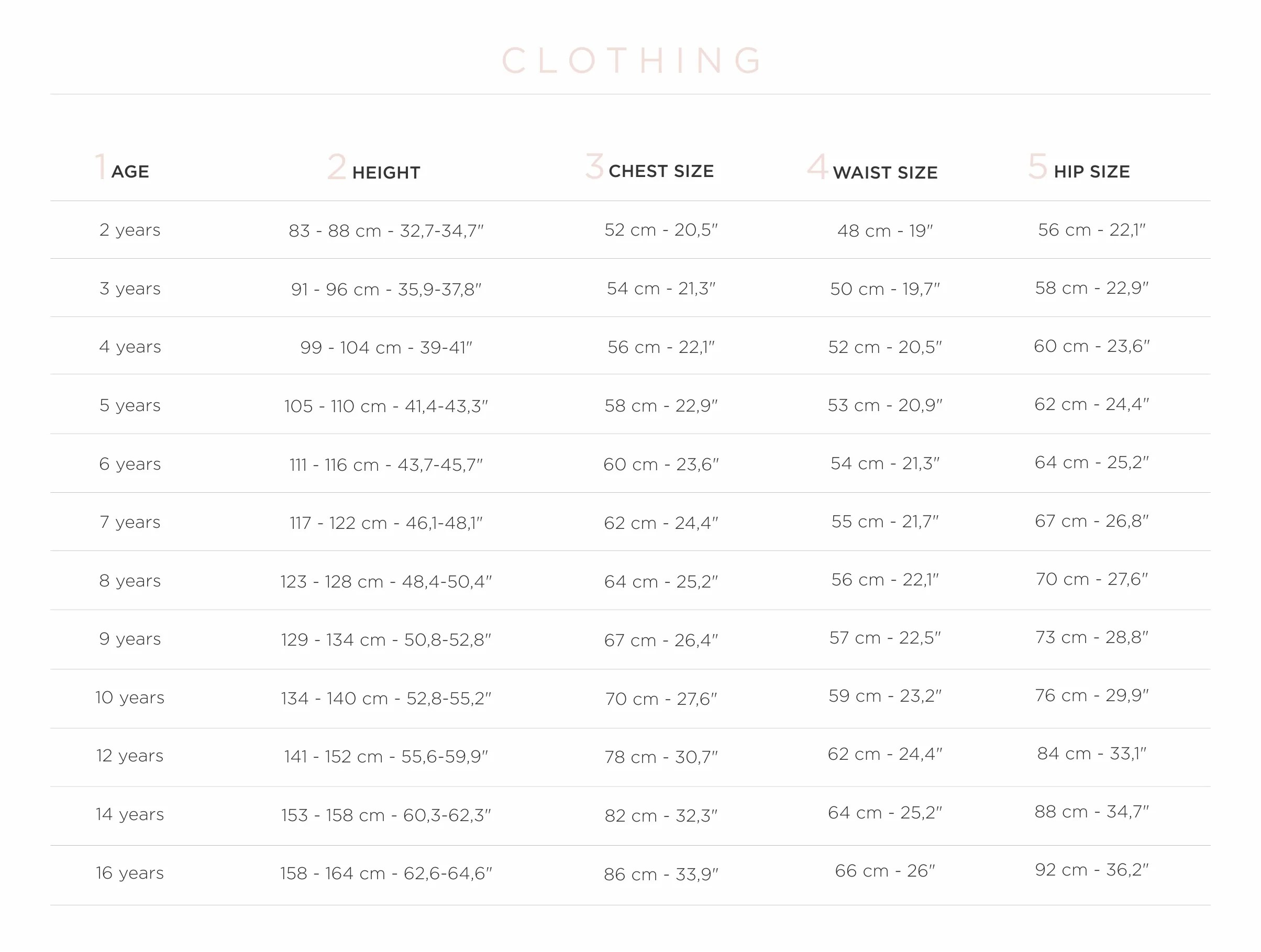 Bonton size chart also twin letter  sale ladida rh