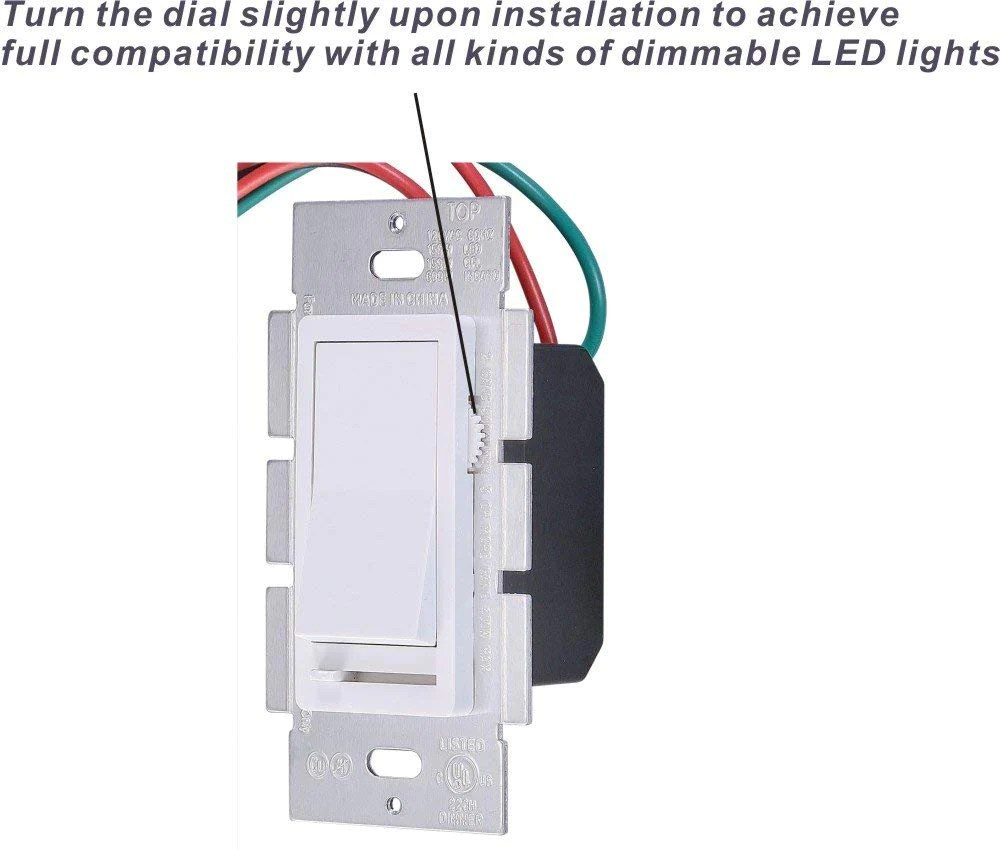 hight resolution of in wall dimmer switch for led light cfl incandescent 3 way single