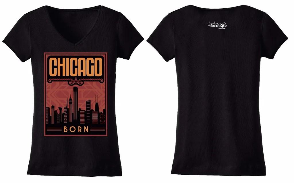 chicago born t shirt