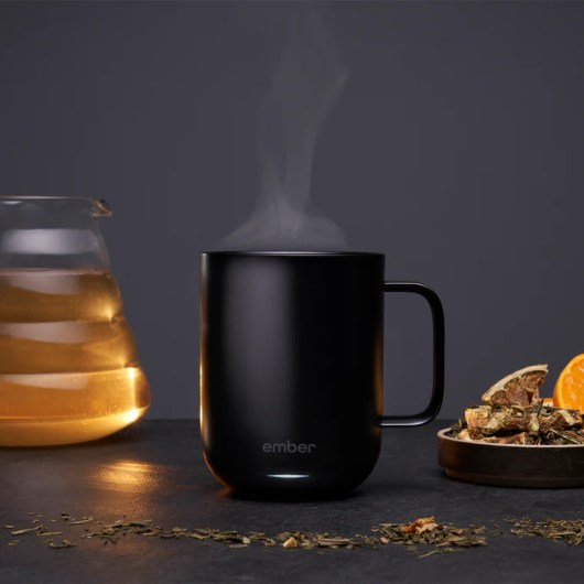 ember temperature control ceramic mug with mug warmer function