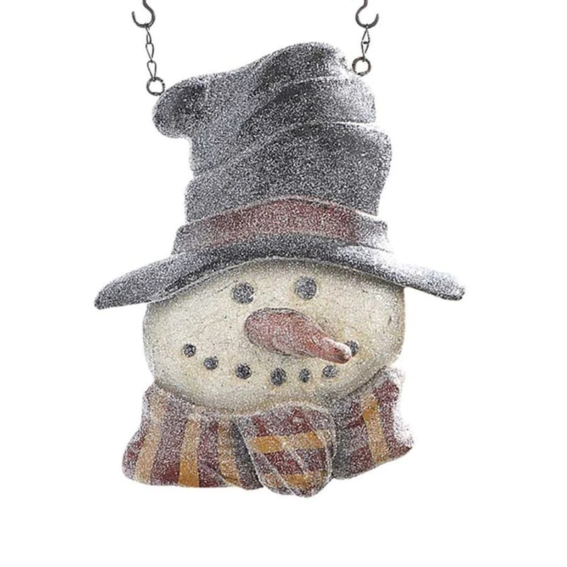 Glitter Snowman in Top Hat Arrow Replacement Sign by KK