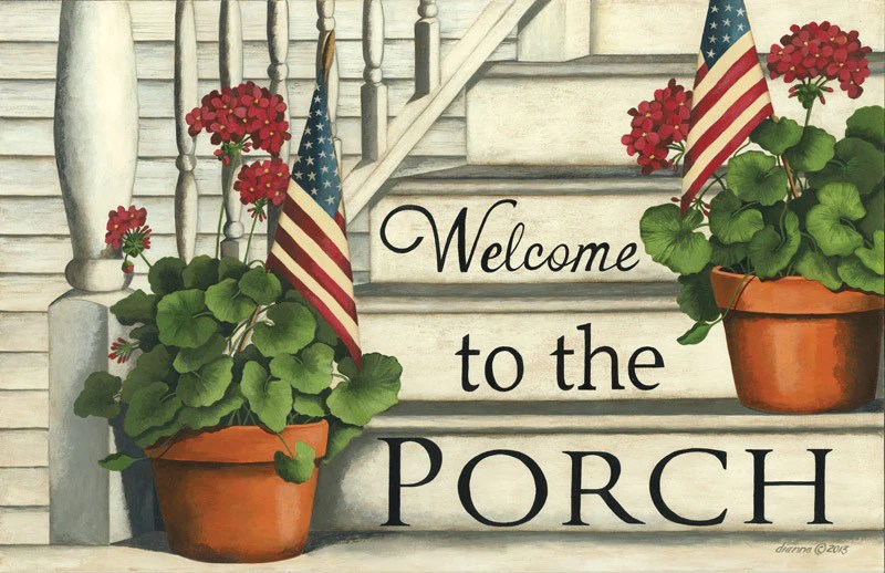 Welcome To The Porch Floor Mat  DS407  DL Country Barn