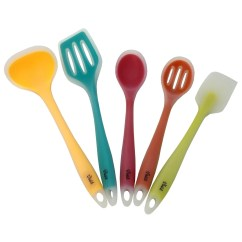 Kitchen Utensil Aid Refrigerator Parts Silicone Cooking Utensils Set Of 5 For The One Piece Tools Long Lasting Strength Hygiene Safety Colorful Core Pack Heat Resistant