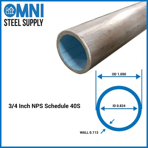 "Steel Pipe 3/4""  OmniSteelSupply"