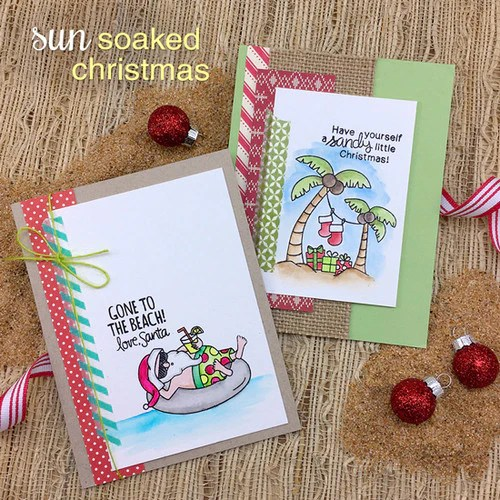 Newtons Nook Designs SUN SOAKED CHRISTMAS Clear Stamps