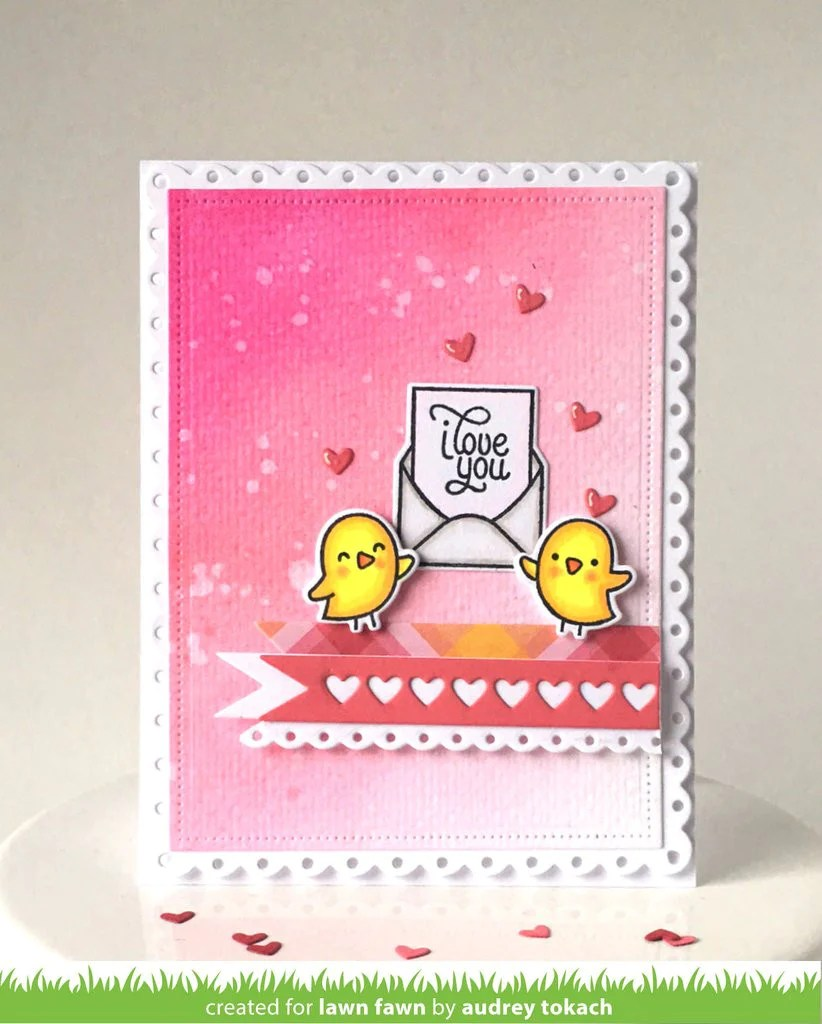 Lawn Fawn LOVE LETTERS Clear STAMPS Hallmark Scrapbook