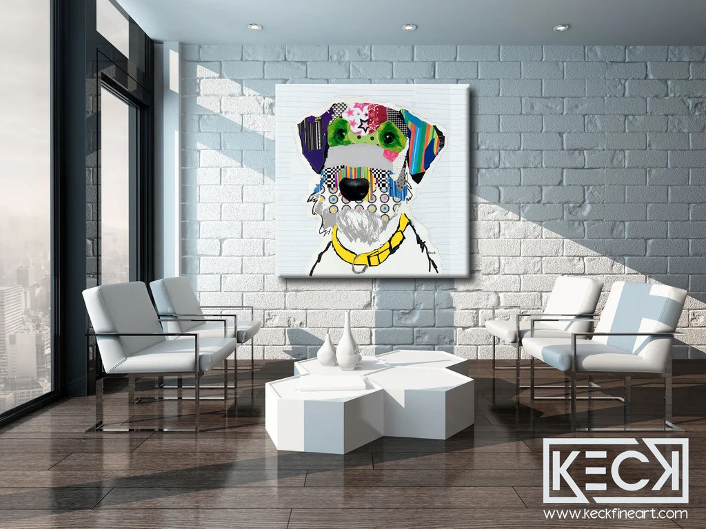 020903 airedale terrier canvas