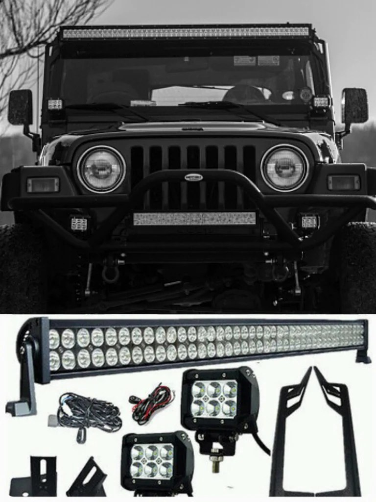 1x 300w led light 2x 18w spot osram led work light mounting access offroad auto parts [ 768 x 1024 Pixel ]