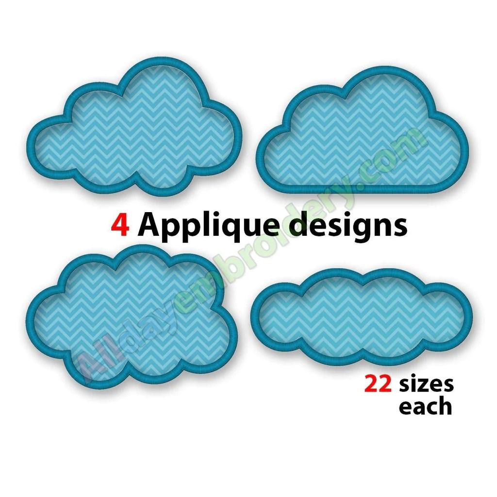 cloud applique set