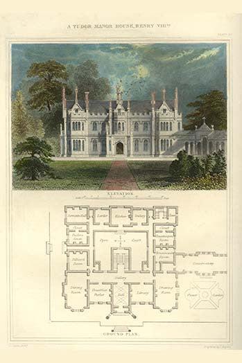 Tudor Manor House Henry VIII  ProtectedArt