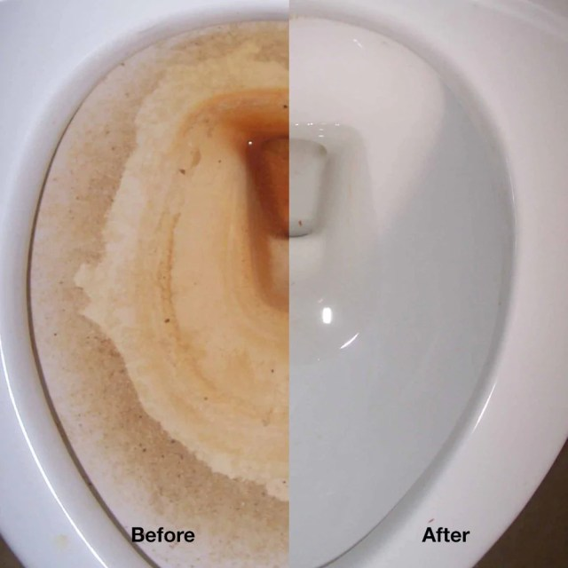 What Will Remove Rust Stains in Toilet Bowls?  Green Gobbler