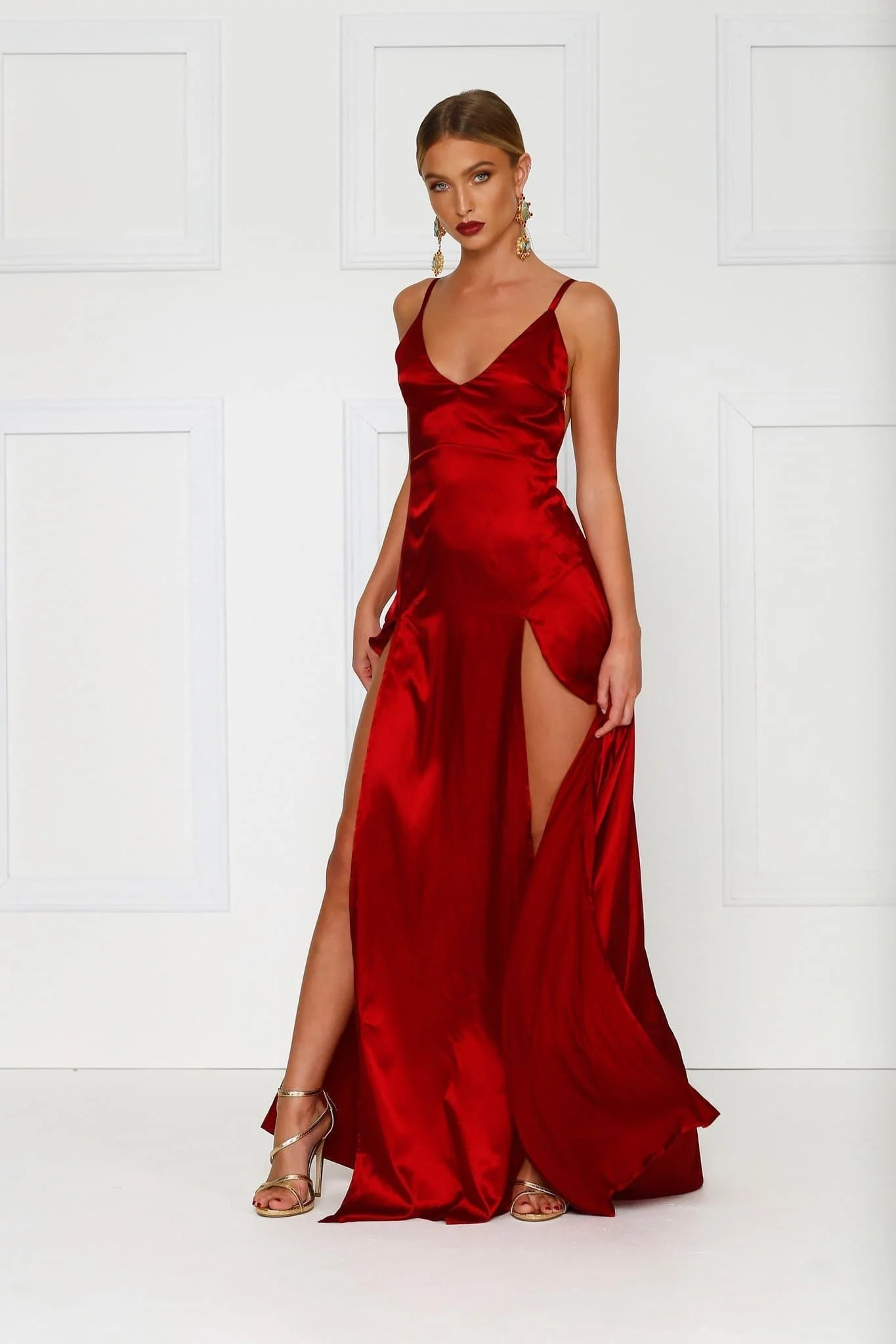 Red Satin Prom Dresses