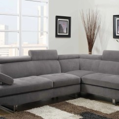 Modern Living Room Couches 4 Chairs In Sectional Grey Sateen By Furniture World Sale