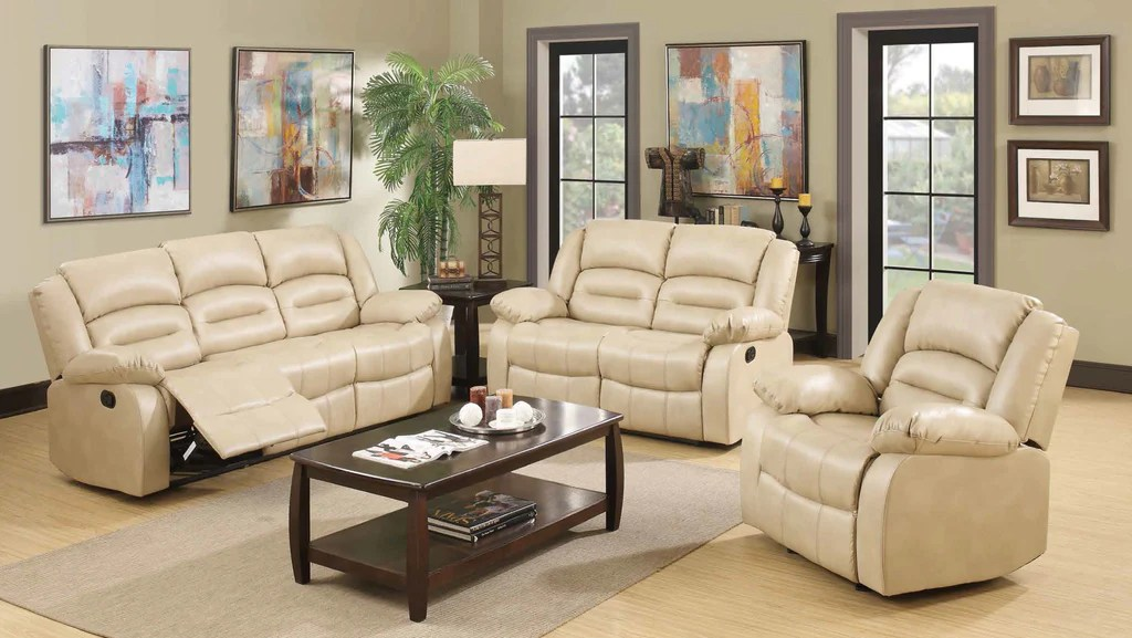 3 sided sectional sofa mirror behind ideas 4 recliner leather living room group by furniture world ...