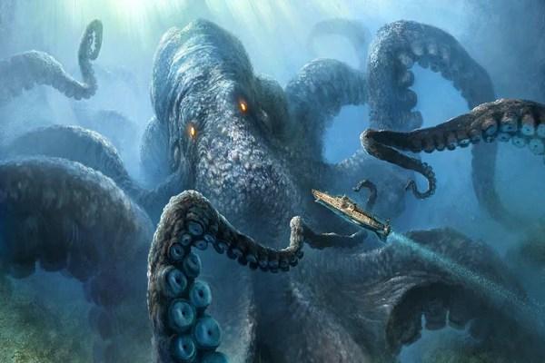 Sea Monster Octopus Canvas SeaLifegifts