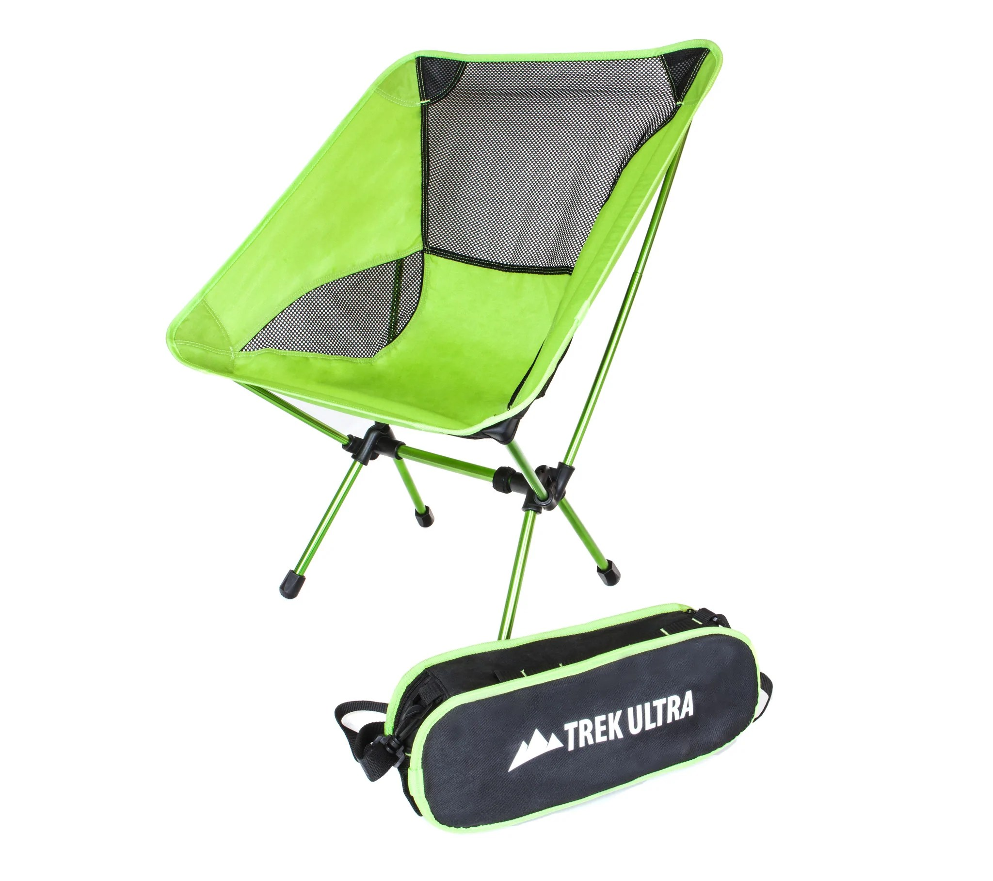 ultra lightweight folding chair black covers with white bows trekultra portable compact camp bag