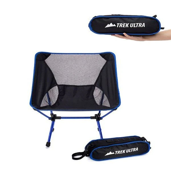 compact travel beach chairs blue checked chair covers trekultra portable lightweight camp with bag ultraligh ultralight folding great
