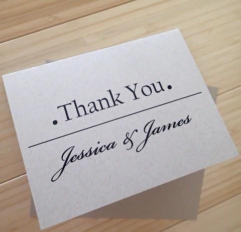 Custom Thank You Notes ( Set of 25) / Thank you Card/ Wedding ...