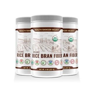 fibra de salvado de arroz orgánico