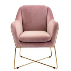 Velvet Armchair Pink Office Chair Arms Too Wide Occasional Chairs Australia Accent Interiors Online Milan Rose