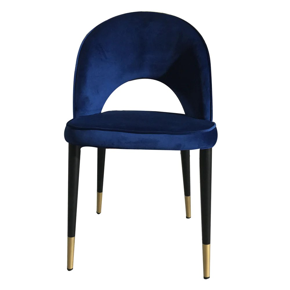 medium resolution of guy dining chair navy velvet