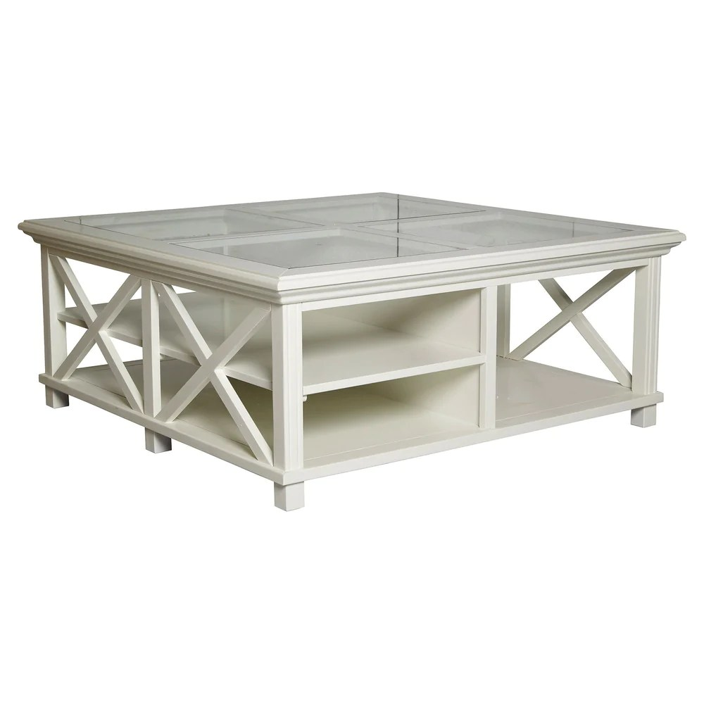 sorrento large square coffee table colour options