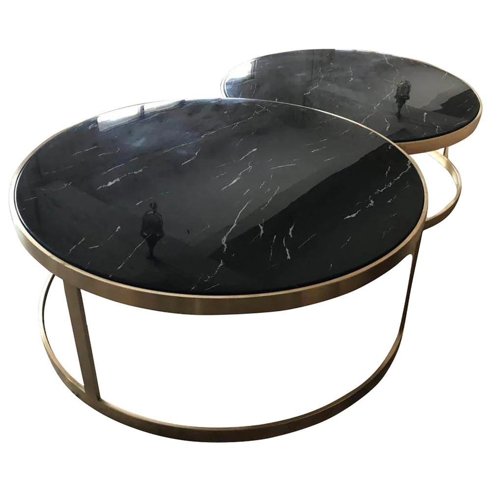 monique coffee table set 2 black