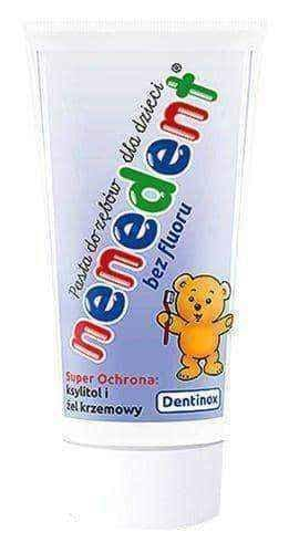 Toothpaste without fluoride NENEDENT 50ml up to 4 years old UK