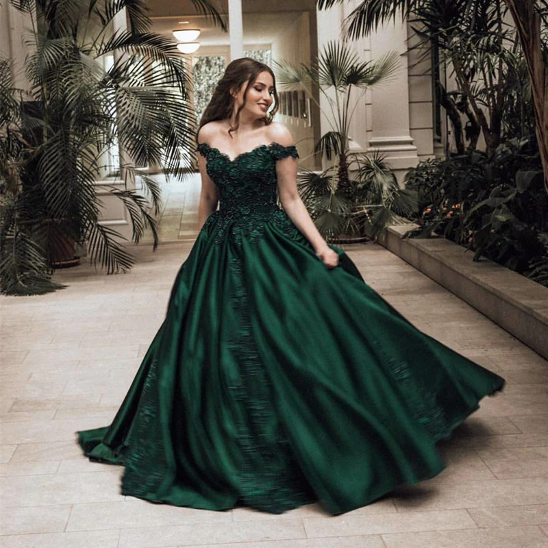 Emerald Green Ball Gown Prom Dress