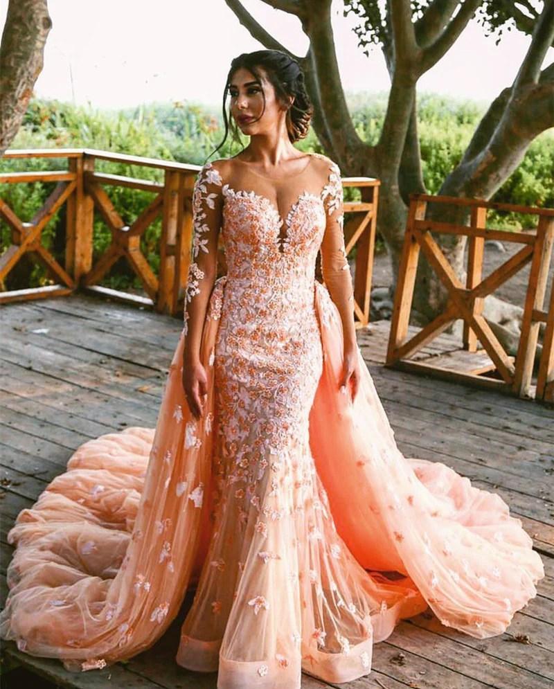 Long Sleeve Mermaid Prom Dresses 2018