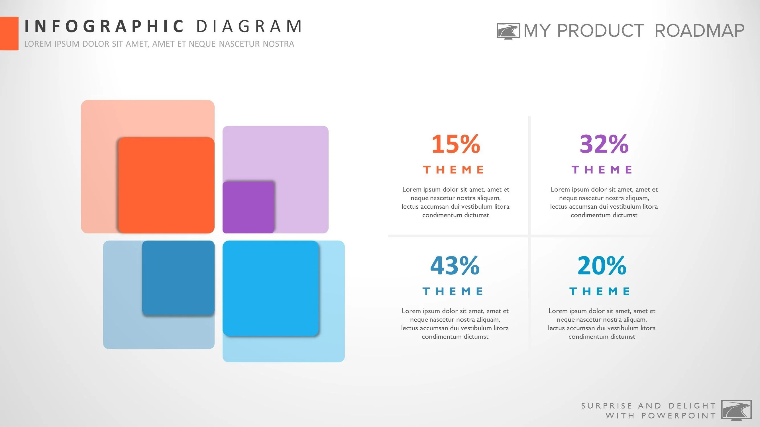 Four Stage Modern Powerpoint Strategy Infographic Theme