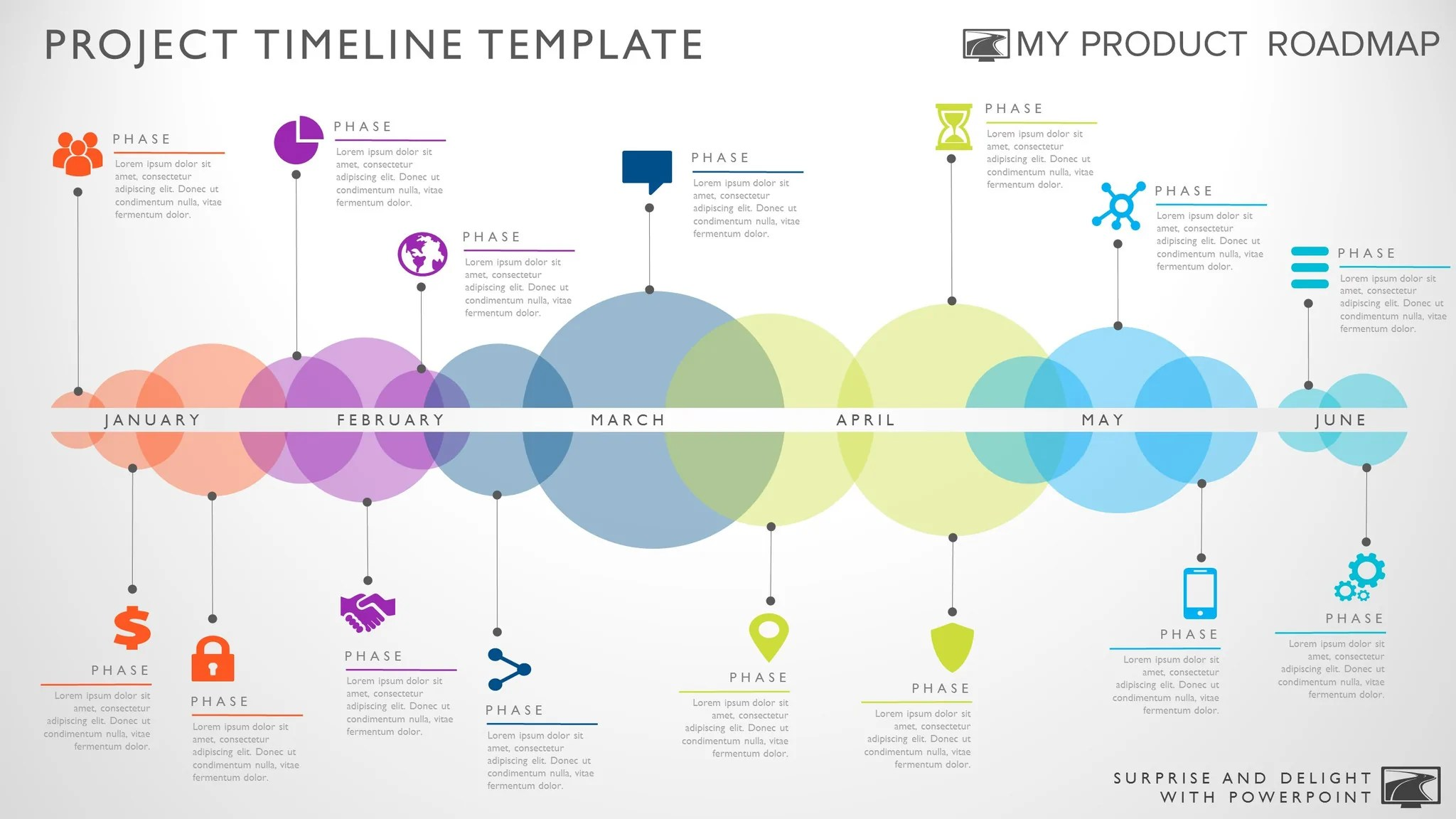 Timeline Template For Powerpoint. Great Project Management Tools To Help  You Create A Timeline To