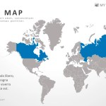 Powerpoint World Map Infographic Presentation Template