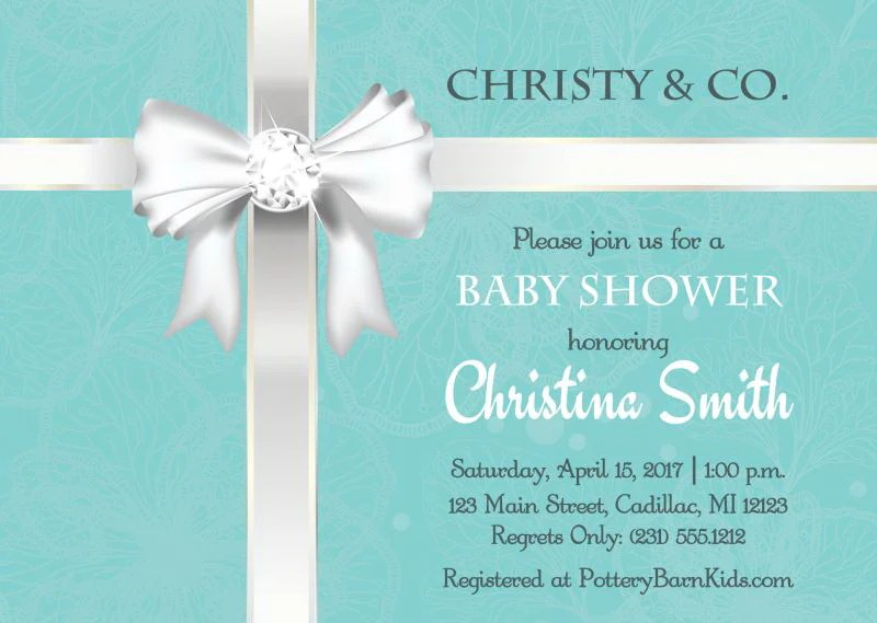 Baby Amp Co Shower Custom Invitation Stork Baby Gift