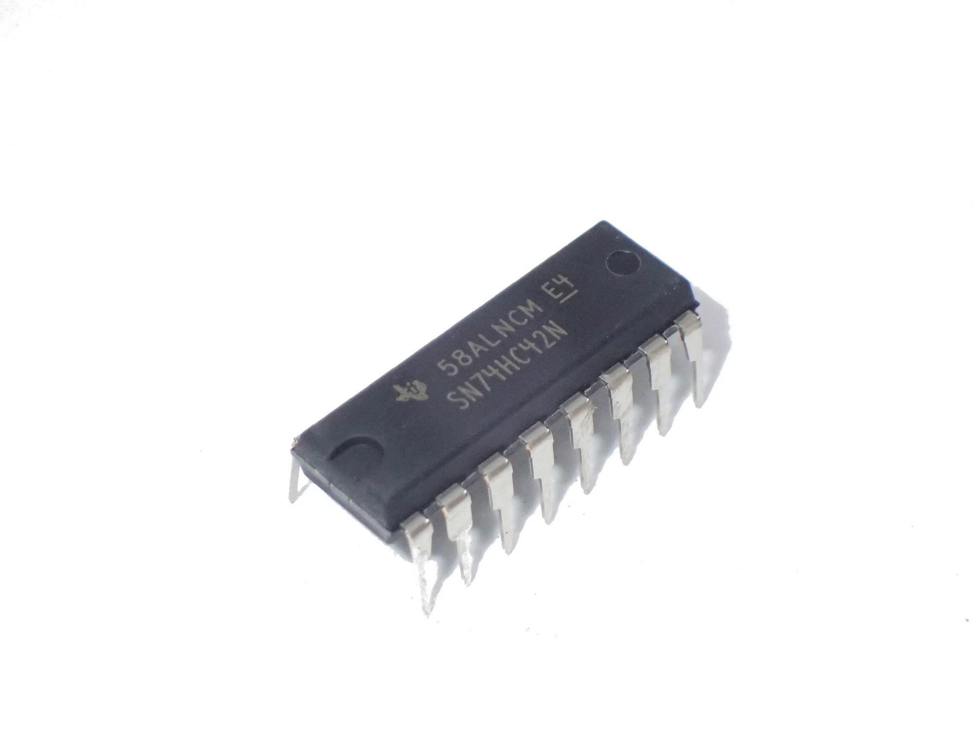 medium resolution of sn74hc42n bcd to decimal decoder 10 output 5 2 ma 2 v to 6 v dip 16 x 2pcs
