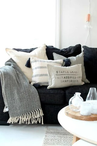 with cushions without