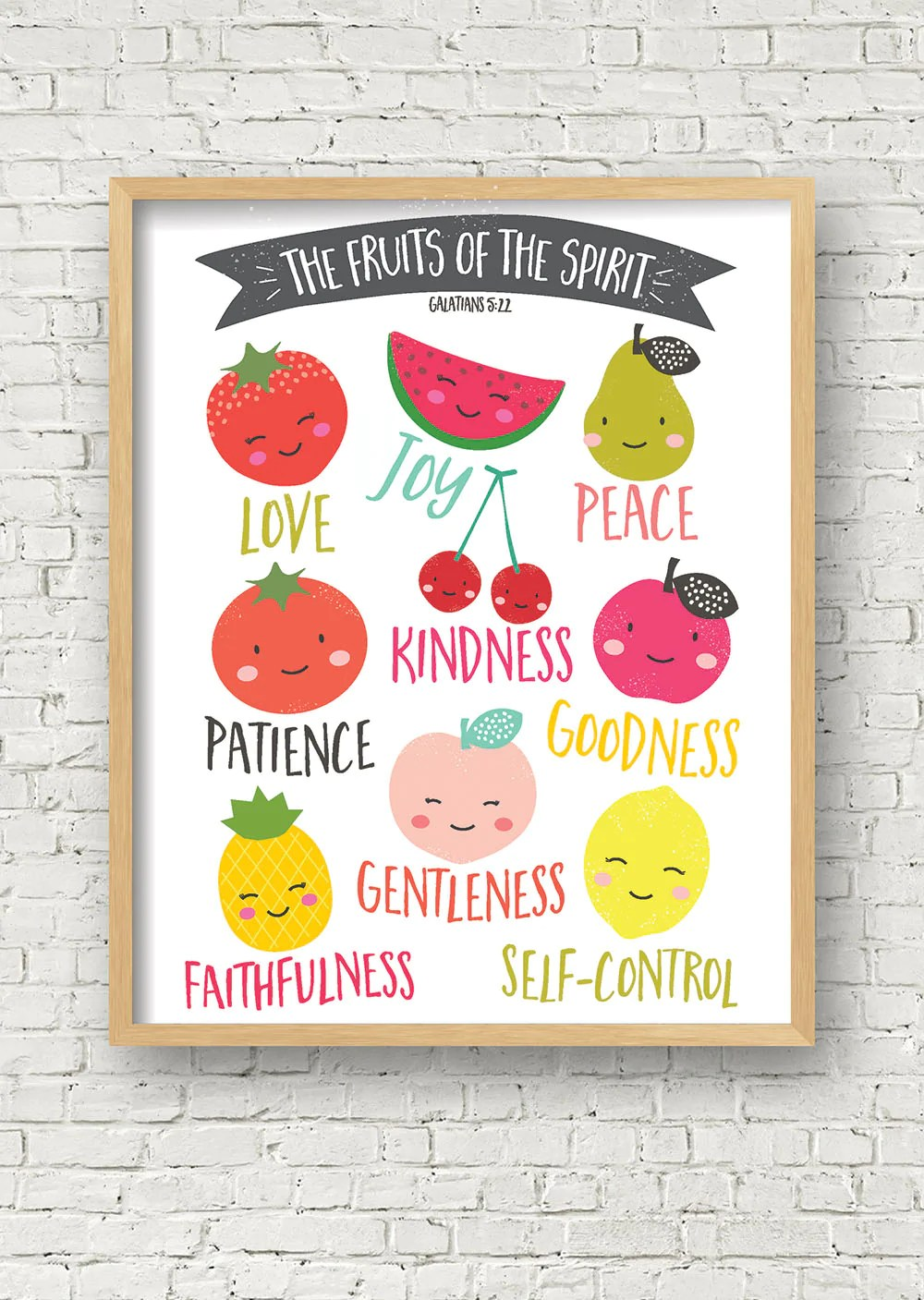 Fruit Of The Spirit Printable Art JellyTelly