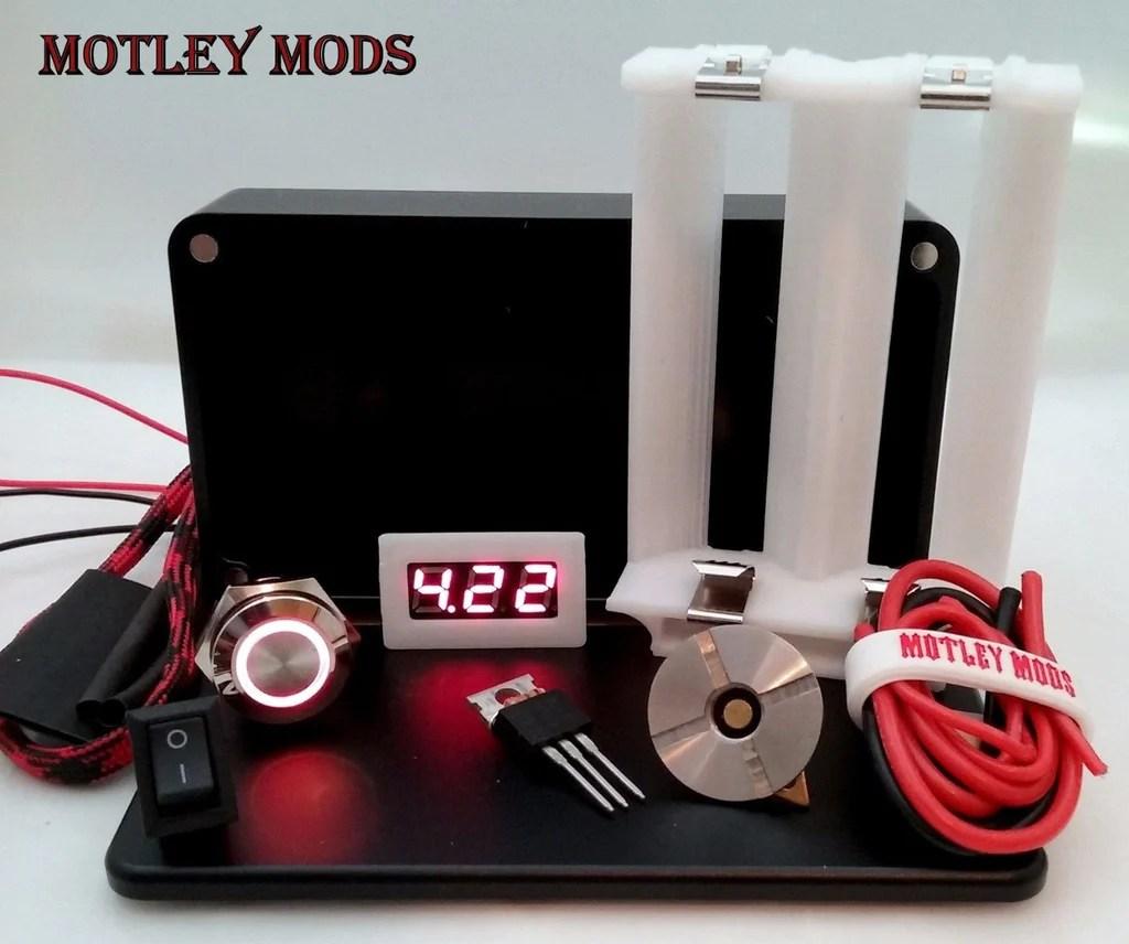 hight resolution of box mod kit cnc b 26650 white motley mods 1